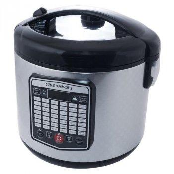 Мультиварка пароварка Crownberg 5 литров медленноварка 860 Вт лучшая домашняя мощная помощница на кухне CB5525S