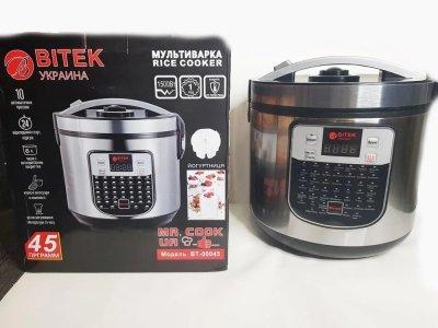 Мультиварка пароварка йогуртниця BITEK 6 літрів медленноварка 1500 Вт краща домашня потужна помічниця на кухні BT00045S