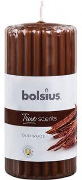 Свічка Bolsius стовпчик ребриста 120/58 з ароматом Агарове дерево (266770)