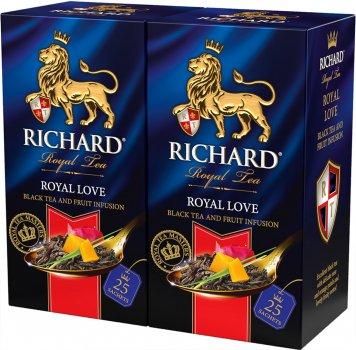 Упаковка черного чая пакетированного Richard Royal Love 2 пачки по 25 пакетиков (2300000010007)