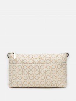 Женская сумка Calvin Klein Jeans Ew Xbody Monogram K60K608105-0K9 Birch Mono (8719853683316)