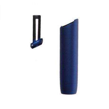 Нижня частина корпуса + Кнопка для держателя IQOS (Айкос) 3/3 DUO (Дуо) Пластик Металік Синій