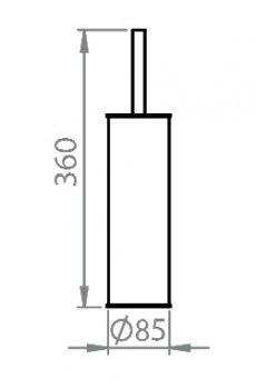 Щітка для унітазу підлогова EFORMETAL 831B