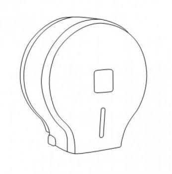 Диспенсер для туалетного паперу джамбо чорний прозорий пластик JTA 109