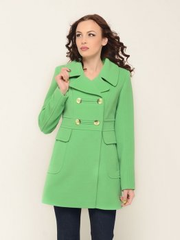Пальто Mangust 1247-15_6340 Салатовое