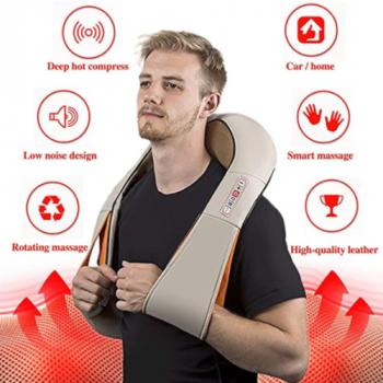Массажёр для всего тела с подогревом Shiatsu Massager of Neck Kneading iTrendy Original 6 кнопок