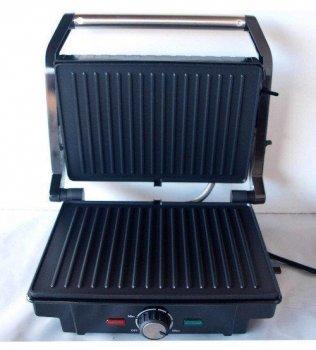 Электрическая гриль GRILL MAKER Rainberg RB-5402 c терморегулятором 1500W Черная