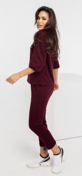 Женский спортивный костюм Fashion Woman NB21027 бордовый