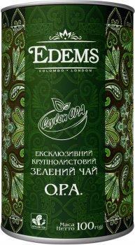 Чай зеленый Edems О.Р.А. Gold крупнолистовой рассыпной 100 г (4820149481326)