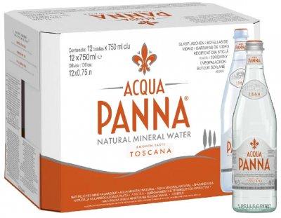 Упаковка минеральной негазированной воды Acqua Panna 0.75 л х 12 бутылок (8002270057656)