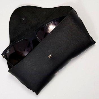 Кожаный футляр чехол для очков,Babich черный
