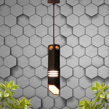 Світильник підвісний LIZA E27 на 1-лампу, темне дерево