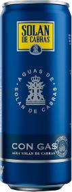 Упаковка воды минеральной сильногазированной Solan de Cabras 0.33 л х 24 банки (8411547212863)
