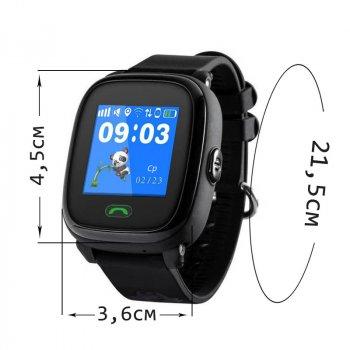 Детские водонепроницаемые смарт-часы с GPS JETIX DF25 Aqua (Light Strap) Black + Защитное стекло