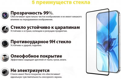 Захисне скло BeCover Premium для Oppo A53 Black (BC_705592)