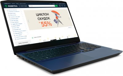 Ноутбук Lenovo IdeaPad Gaming 3 15ARH05 (82EY00G6RA) Chameleon Blue