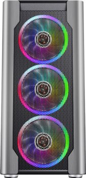 Корпус 1stPlayer DX-4R1-PLUS-BK Color LED Black