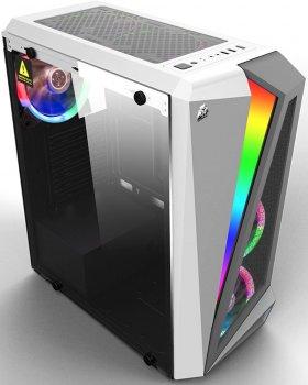 Корпус 1stPlayer R5-3R1-WH Color LED White
