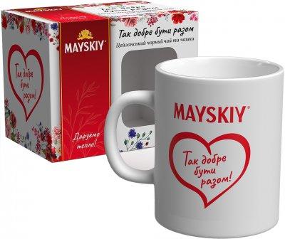 """Набор Майский """"Так хорошо быть вместе"""" Чай черный крупнолистовой 20 г + чашка (4823063709651)"""