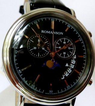 Годинник ROMANSON TL1276HM1WA32W-K (TL1276HMWH BK)