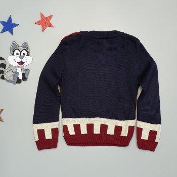 """Свитер """"Звезда"""" Joni kids для мальчика Темно-синий 18512"""