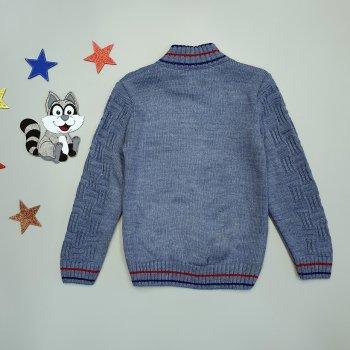 Вязаная кофта Rissa для мальчика Синяя 18517