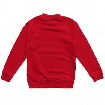 """Утеплённый свитшот """"Байкер"""" Gorkem kids для мальчика Красный 7969"""