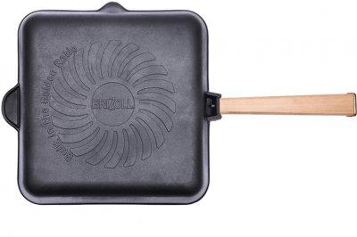 Сковорода-гриль Brizoll Оптима чавунна квадратна з ручкою 280х280х50 мм (559-112)