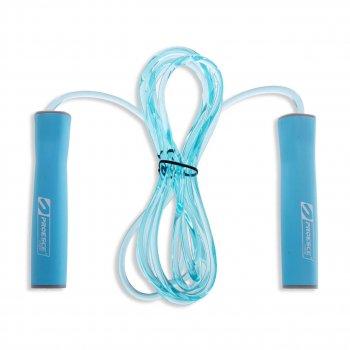Скакалка швидкісна з підшипником і PVC джгутом з силіконовими ручками 3м синя FI-1947