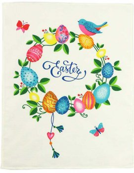 Полотенце Руно 45х60 вафельное (205.15_Easter1)