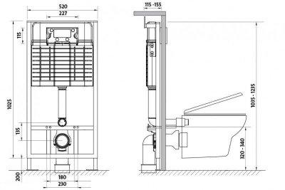 Система инсталляционная Cersanit Slim and Silent Без кнопки (9096)