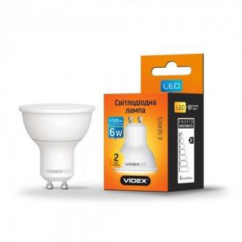 Лампа LED MR16e 6W GU10 3000K 220V, 24962, Videx