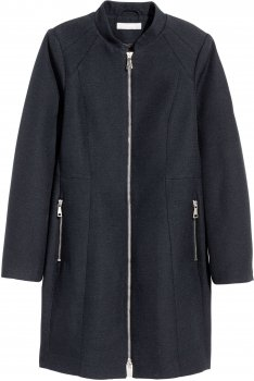 Пальто H&M 1202-4582135 Темно-синее