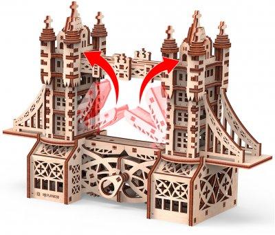 Конструктор 3D из дерева Mr. Playwood Тауэрский мост S 226 деталей (10031) (4820204380212)