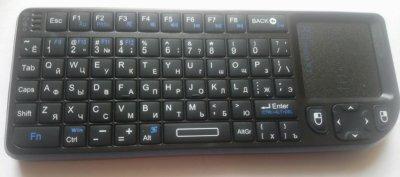 Rii Mini X1 2.4 G Бездротова повітряна клавіатура з сенсорною панеллю і мишею (RT-MWK01 RU)