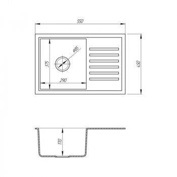 Кухонна мийка Cosh 5546 kolor 806 (COSH5546K806)