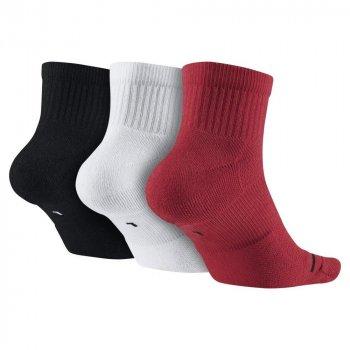 Баскетбольні шкарпетки (3 пари) Jordan Jumpman Quarter Dri-Fit 3PPK (SX5544-011) Червоний