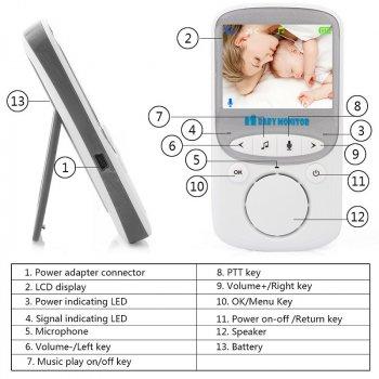 Видеоняня Baby Monitor VB605 Plus