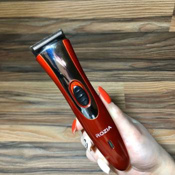 Бездротова професійна машинка триммер для стрижки GoVern HQ208 (Rozia) для волосся, бороди Червона