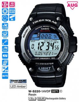 Годинник CASIO W-S220-1AVEF
