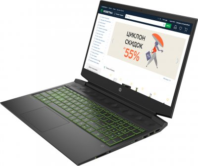 Ноутбук HP Pavilion Gaming 16-a0006ua (34Q70EA) Dark Grey