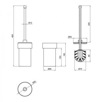 Ершик для унитаза напольный керамический Lidz (CRG)-121.05.05
