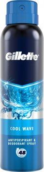 Дезодорант-антиперспирант Gillette Cool Wave аэрозольный 150мл (8001841198279)