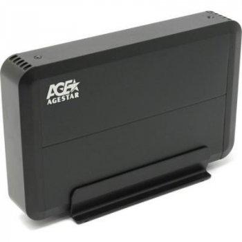 """Карман внешний AgeStar 3.5"""" USB3.0 black (3UB3O8-6G (Black))"""