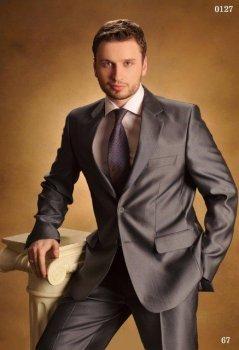Мужской нарядный костюм West-Fashion 0127 серый 176