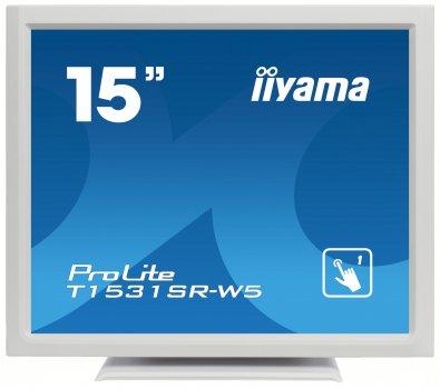 МонІтор Iiyama T1531SR Biały (T1531SRW5)