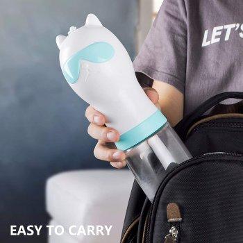Пляшка Fida Travel Cup для напування тварин, блакитна