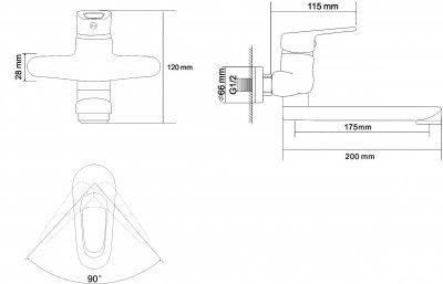 Змішувач для раковини RJ Narciz RBZ100-7