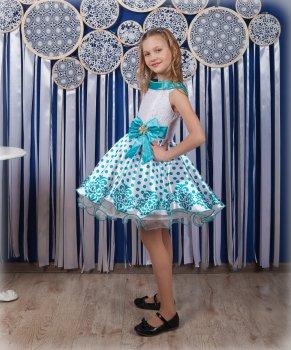 Детское платье I.V.A.moda Стиляги 30 бирюзовый iva-489