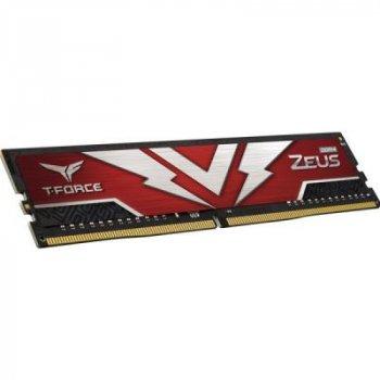 Модуль пам'яті для комп'ютера DDR4 16GB (2x8GB) 3200 MHz T-Force Zeus Red Team (TTZD416G3200HC20DC01)